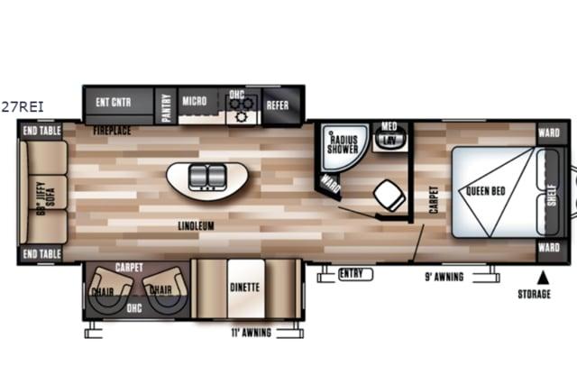 Floorplan. Forest River Wildwood 2018