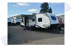 Entry side with awning. Forest River Surveyor 2020