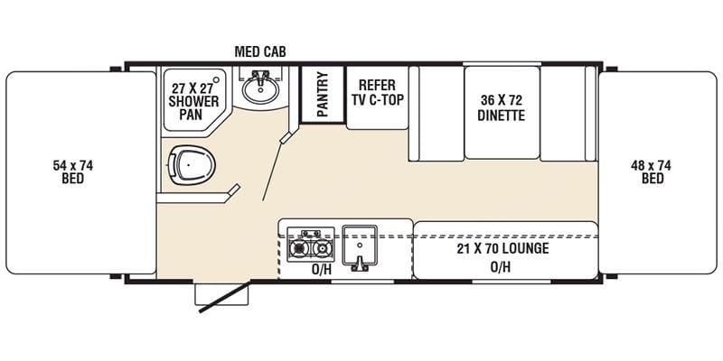 Floor plan. Coachmen Clipper 2016