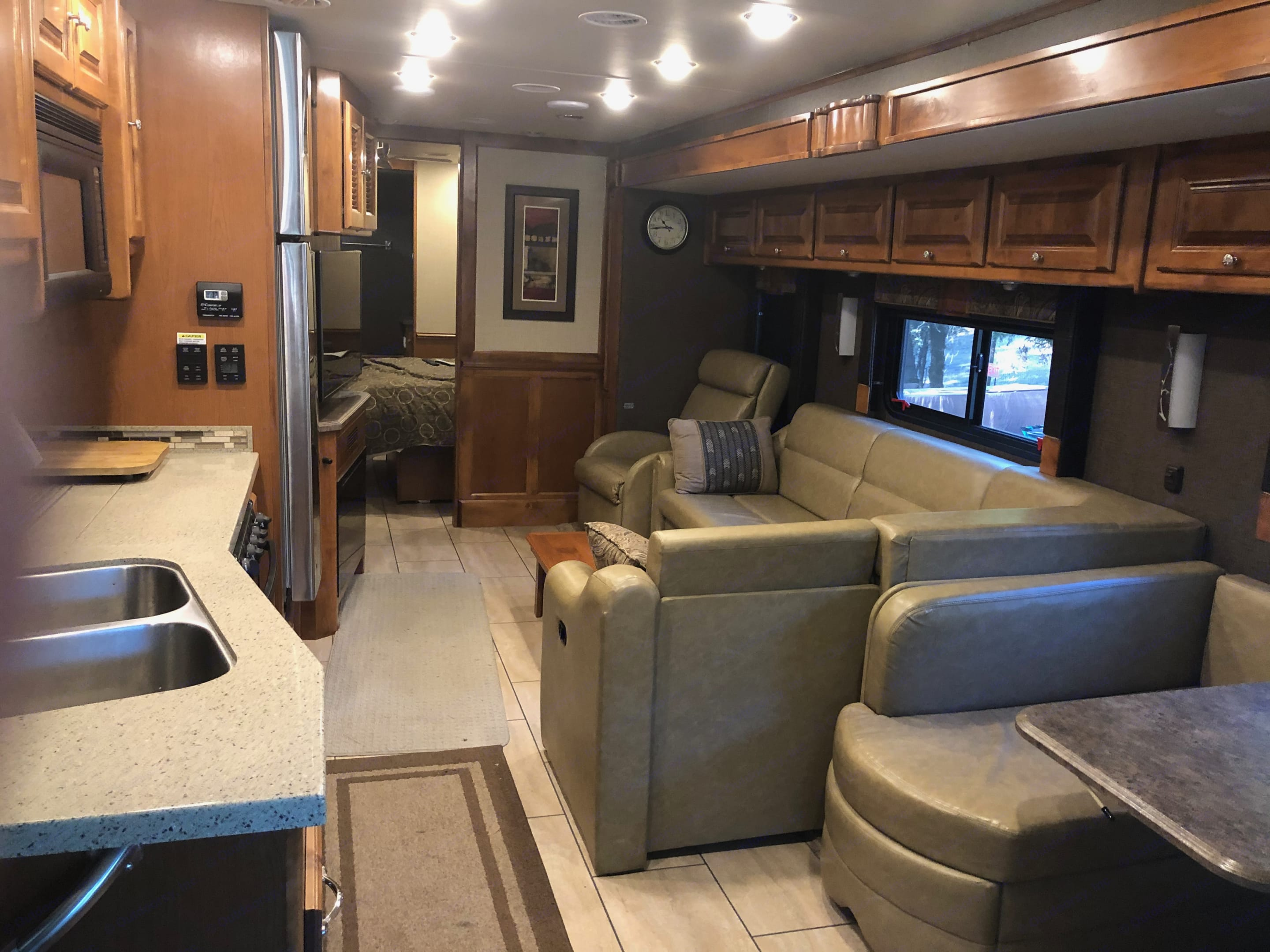 view from front to back of RV. Tiffin Motorhomes Allegro Open Road 2016