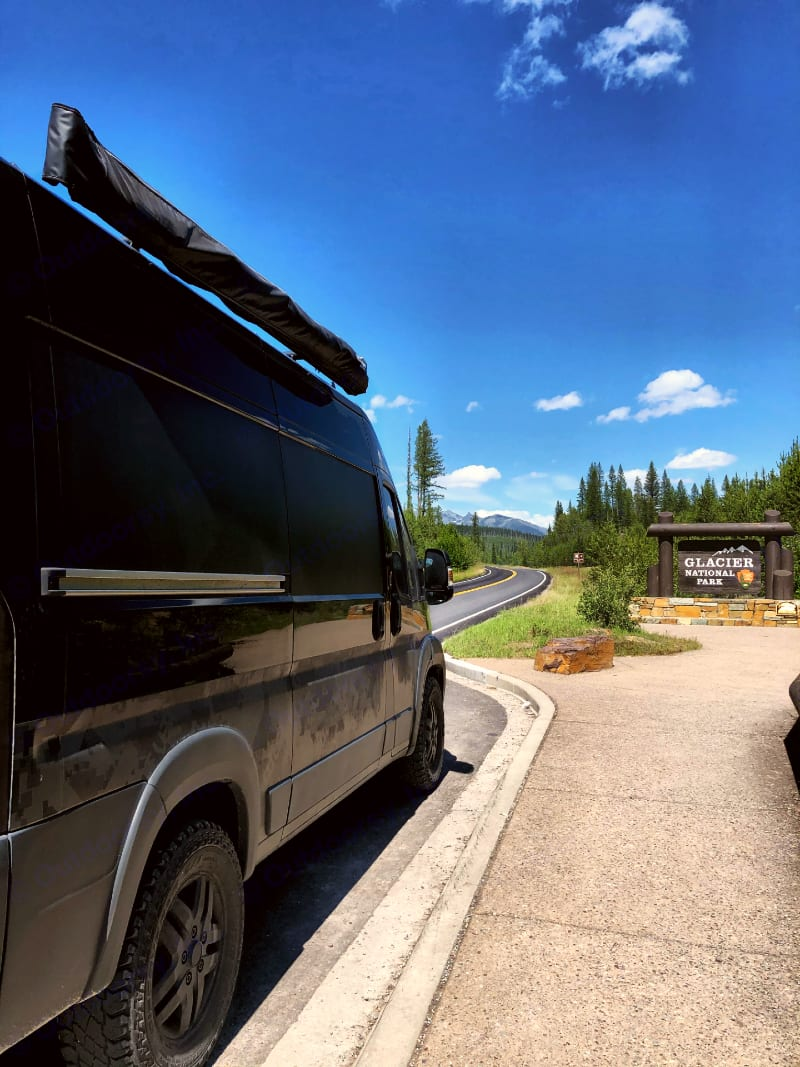 Glacier awaits!. Ram Promaster Outside Van 2014
