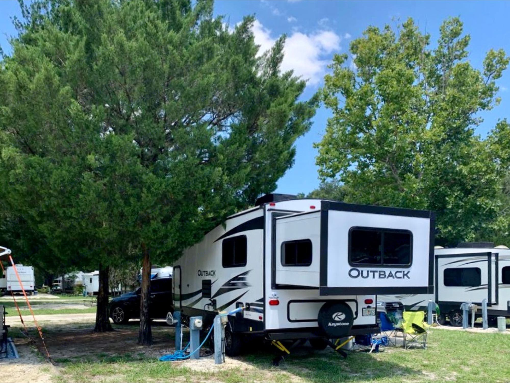 back fully extended. Keystone Outback 2020