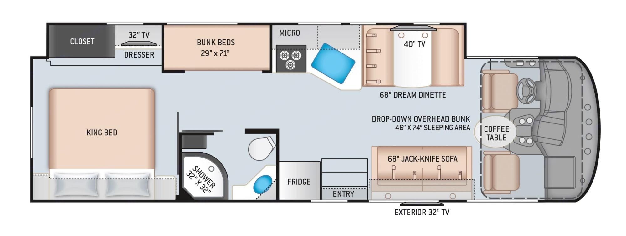 Floor-plan. Freedom Traveler A32 2020