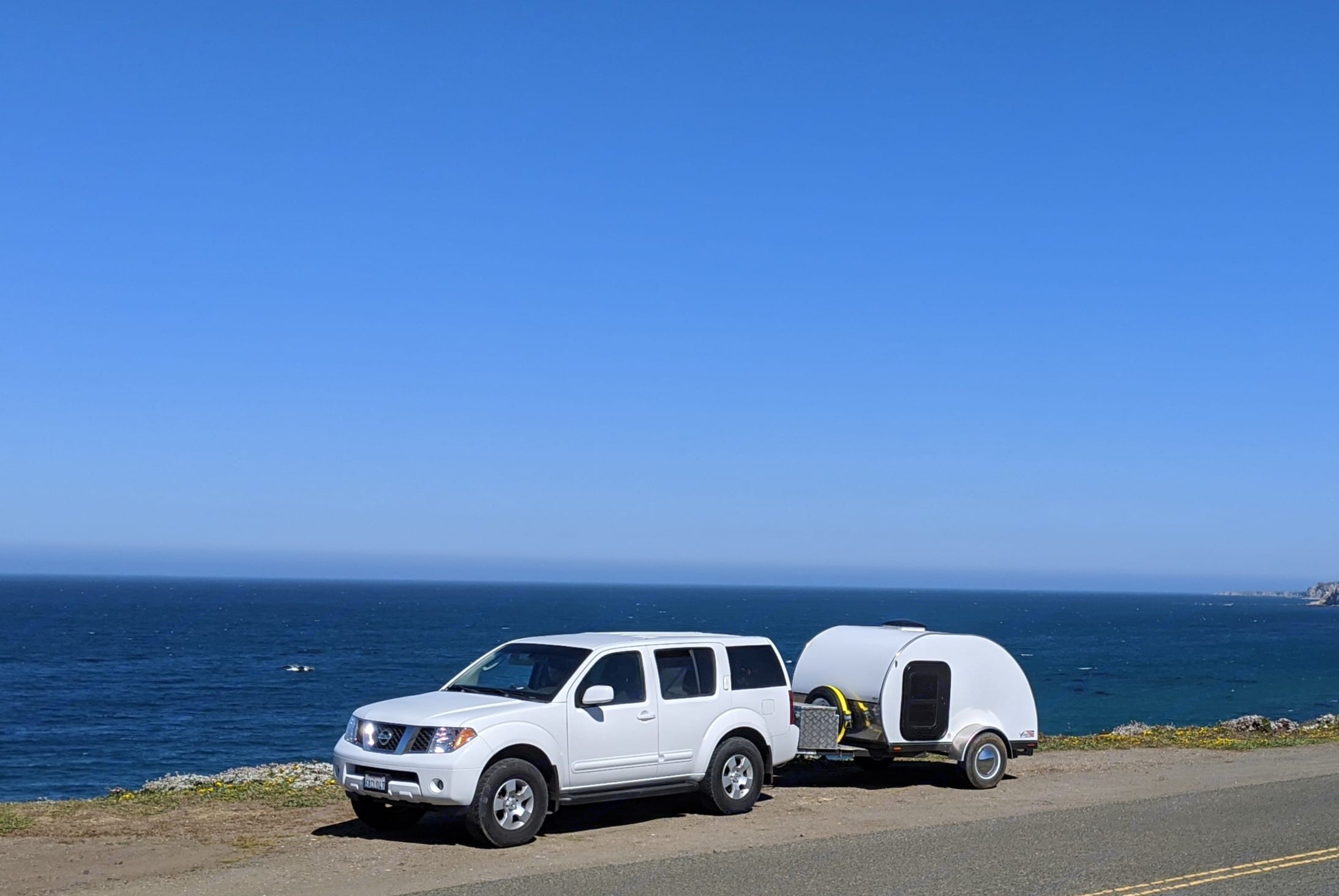Tounge box and spare tire. American Teardrop Travel Trailer 2017