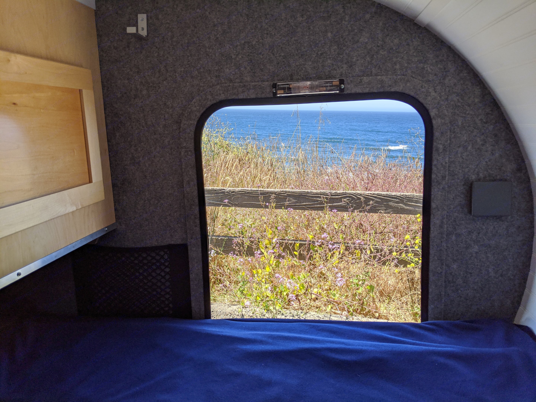 Two doors with screened windows.. American Teardrop Travel Trailer 2017