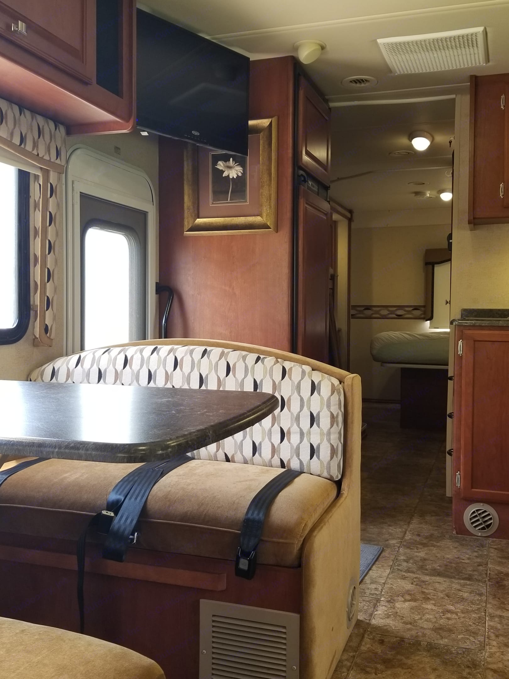 Front to  back view. Winnebago Access 2012