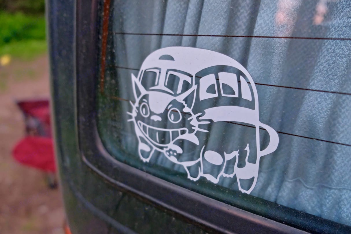 Catalina is also known as Catbus. You can see why!. Toyota Hiace 1991