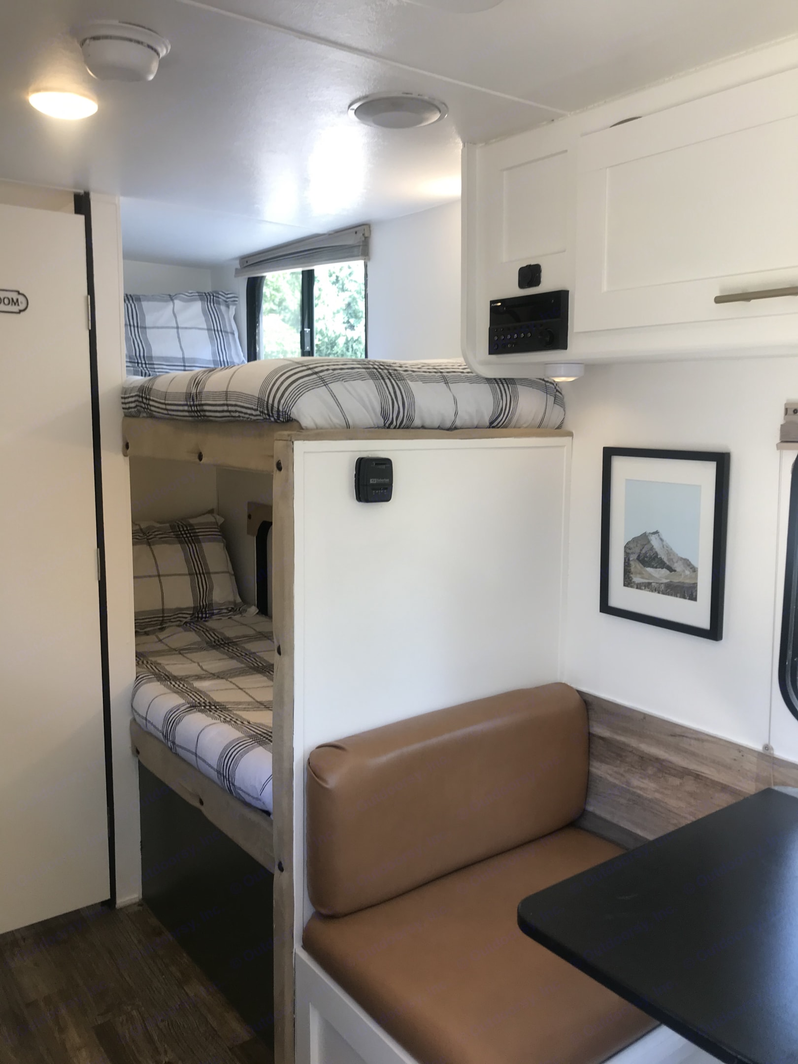 Comfortable bunks that kids LOVE! Comfortable and large enough for adults too. . Forest River Wolf Pup 2016