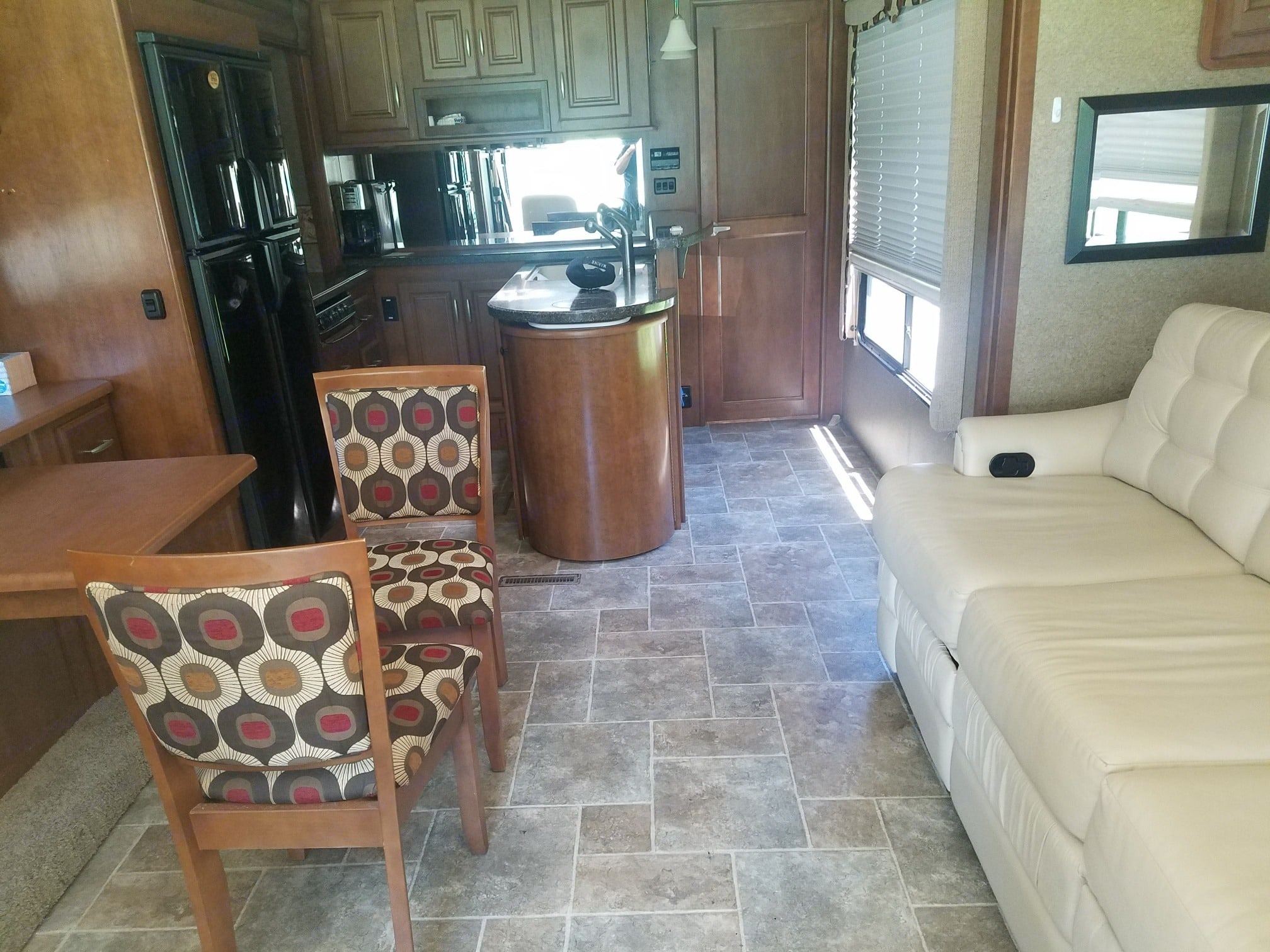 Front room with new couch. Thor Motor Coach Challenger 2014