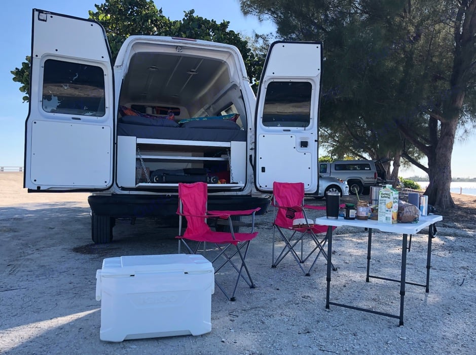 Camping Gear + Back Look. Ford Econoline E250supercab 2011