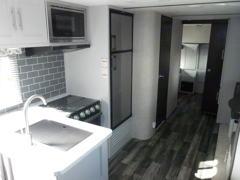 Kitchen Looking Back to Bunkhouse. Keystone Bullet 2021