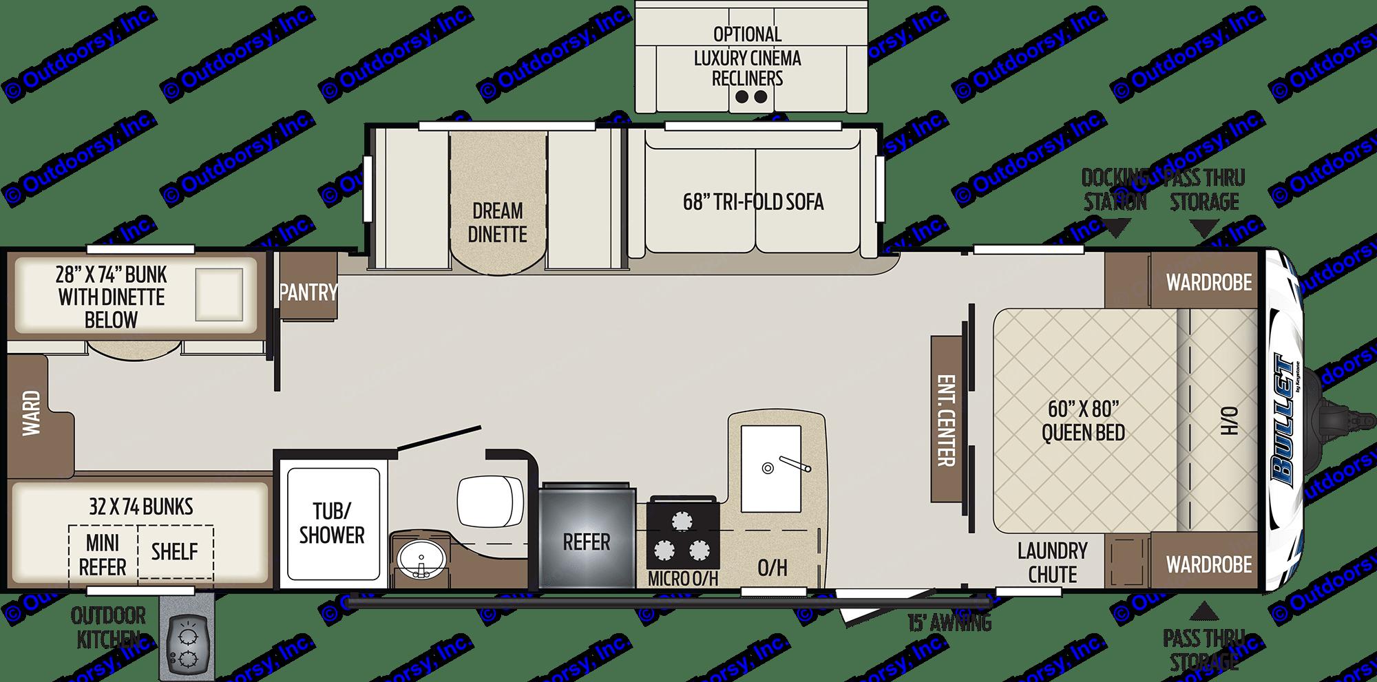 Floor Plan. Keystone Bullet 2021