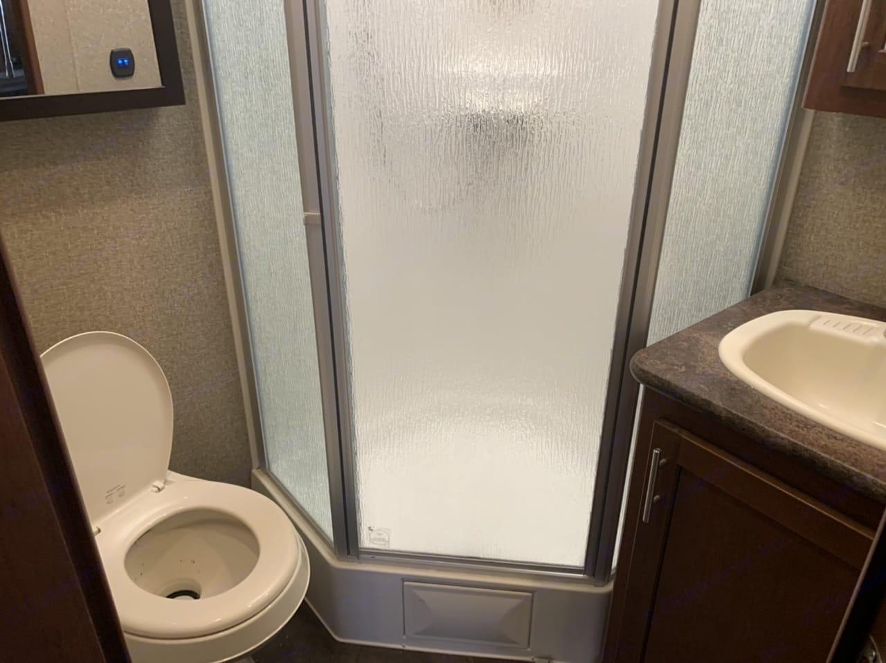 Bathroom. Forest River Vengeance 2016