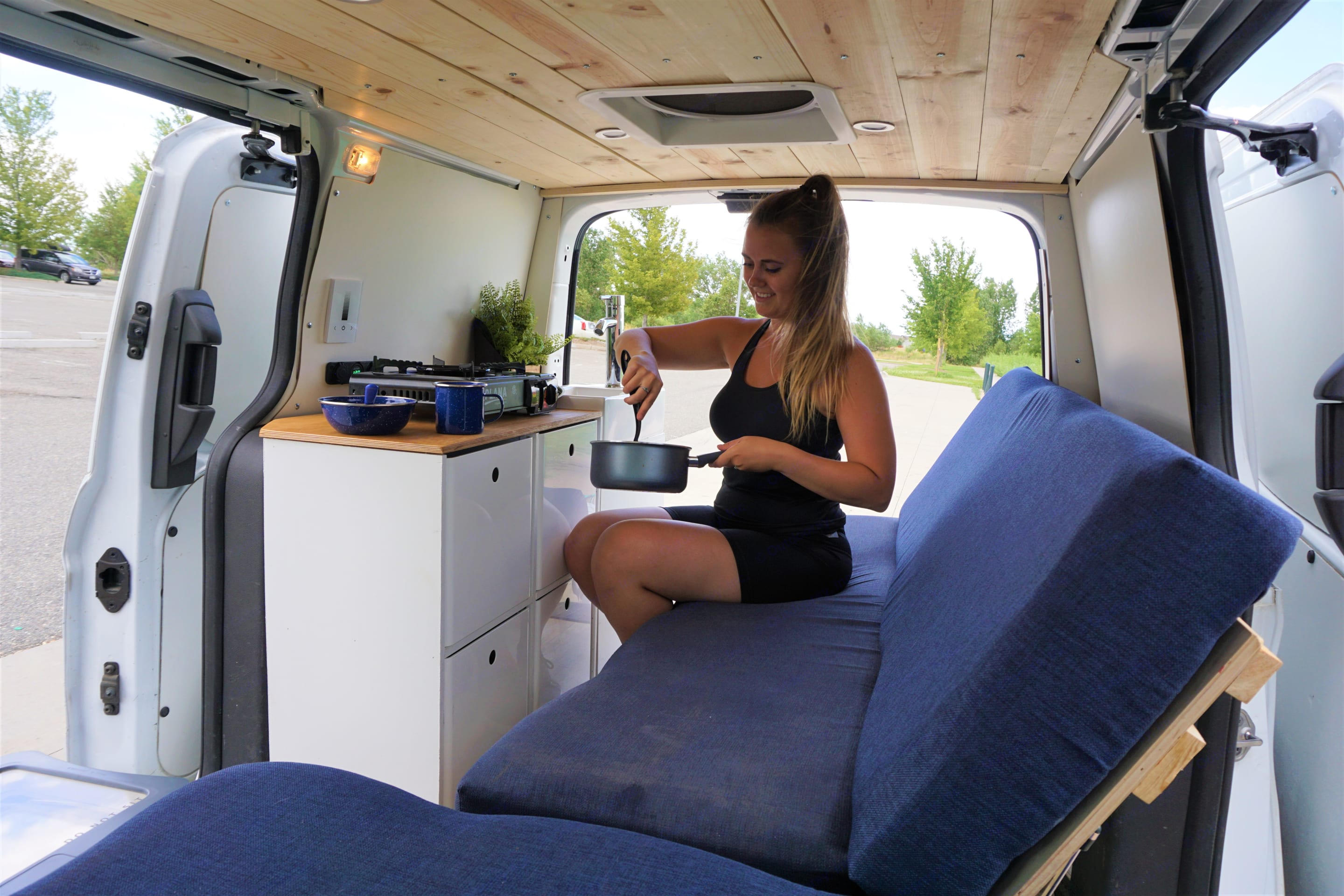 One-pot meal are my camping go to!. Ford Van 2015