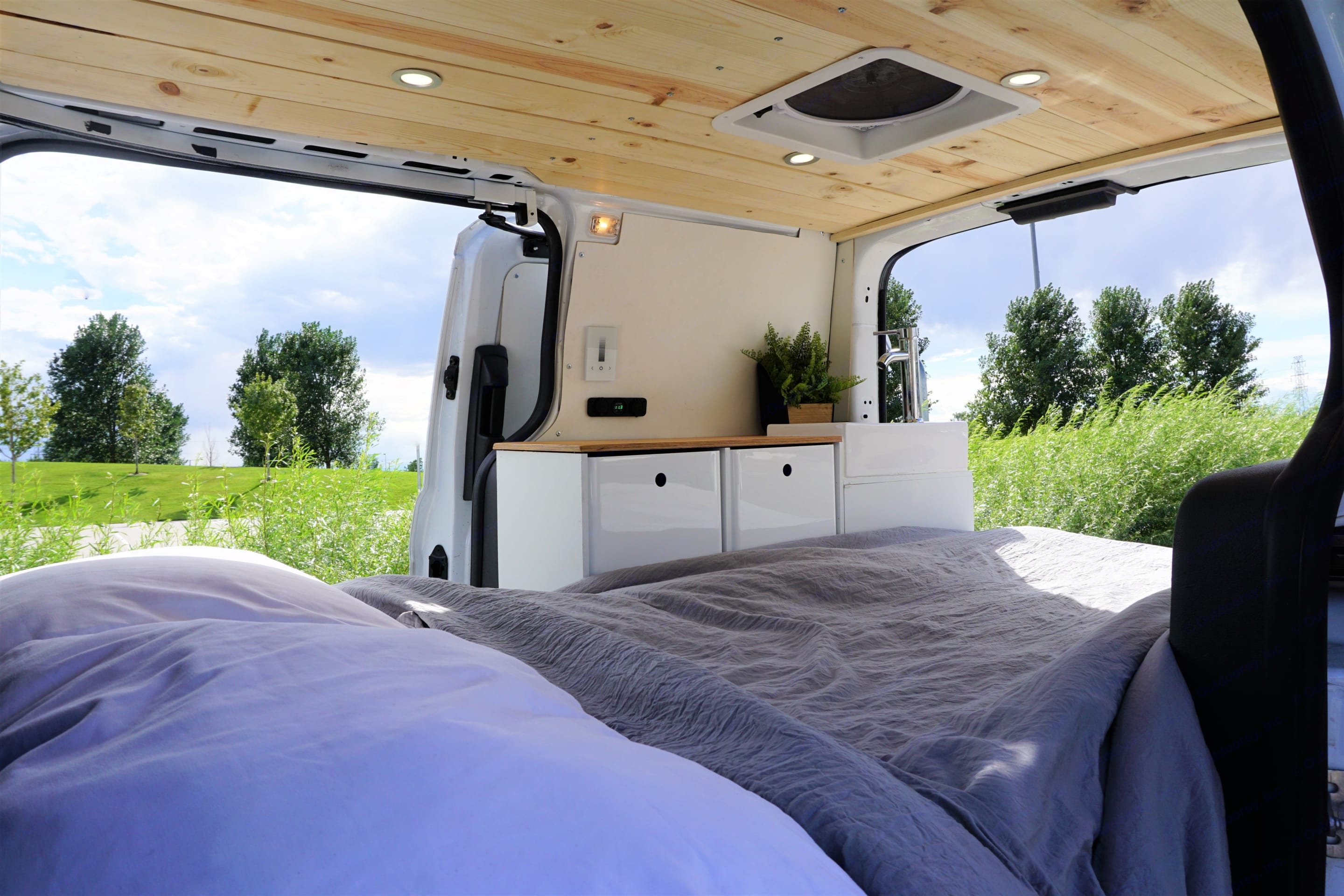 Give glamping a go!. Ford Van 2015