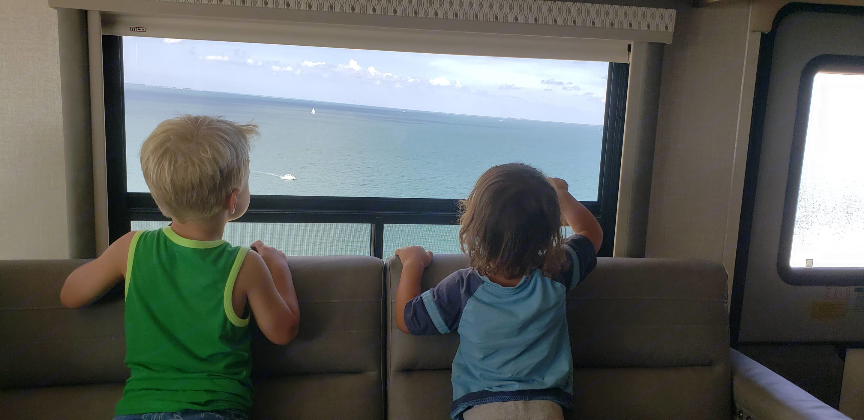 Skyway bridge to Sarasota. Coachmen Sportscoach SRS BH 366 2020