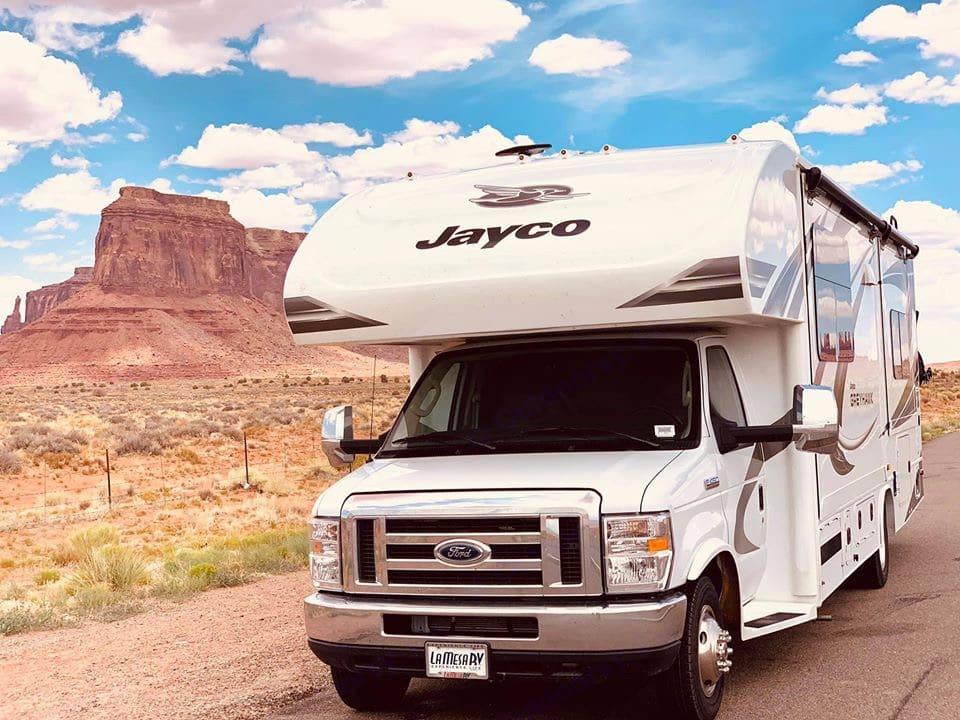 Big Bertha in Utah. Jayco Greyhawk 2020