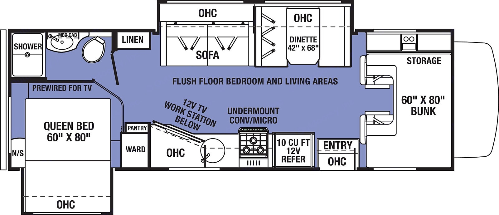 This is the floorplan. Forest River Sunseeker 2550DSLE 2020
