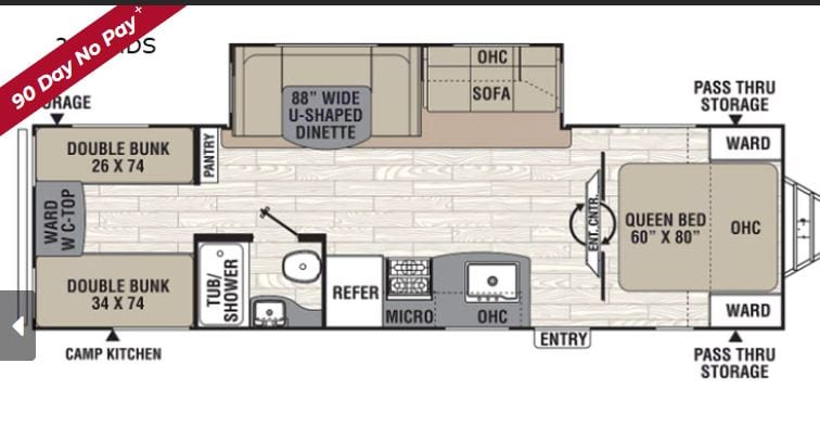 Floor Plan. Coachmen Freedom Express Liberty Edition 292BHDS 2020