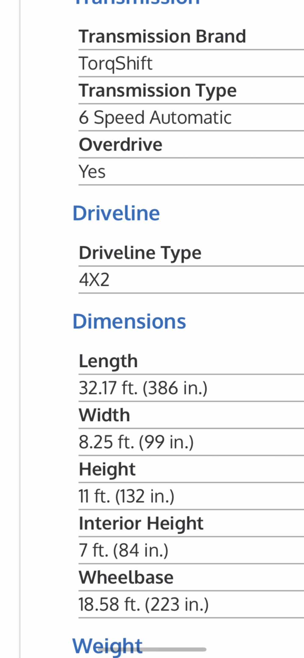 Thor Motor Coach Four Winds 30D 2020