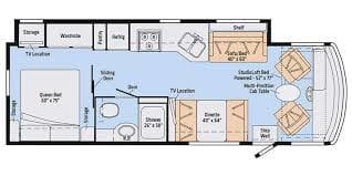 Floor Plan. Winnebago Intent 29L 2019