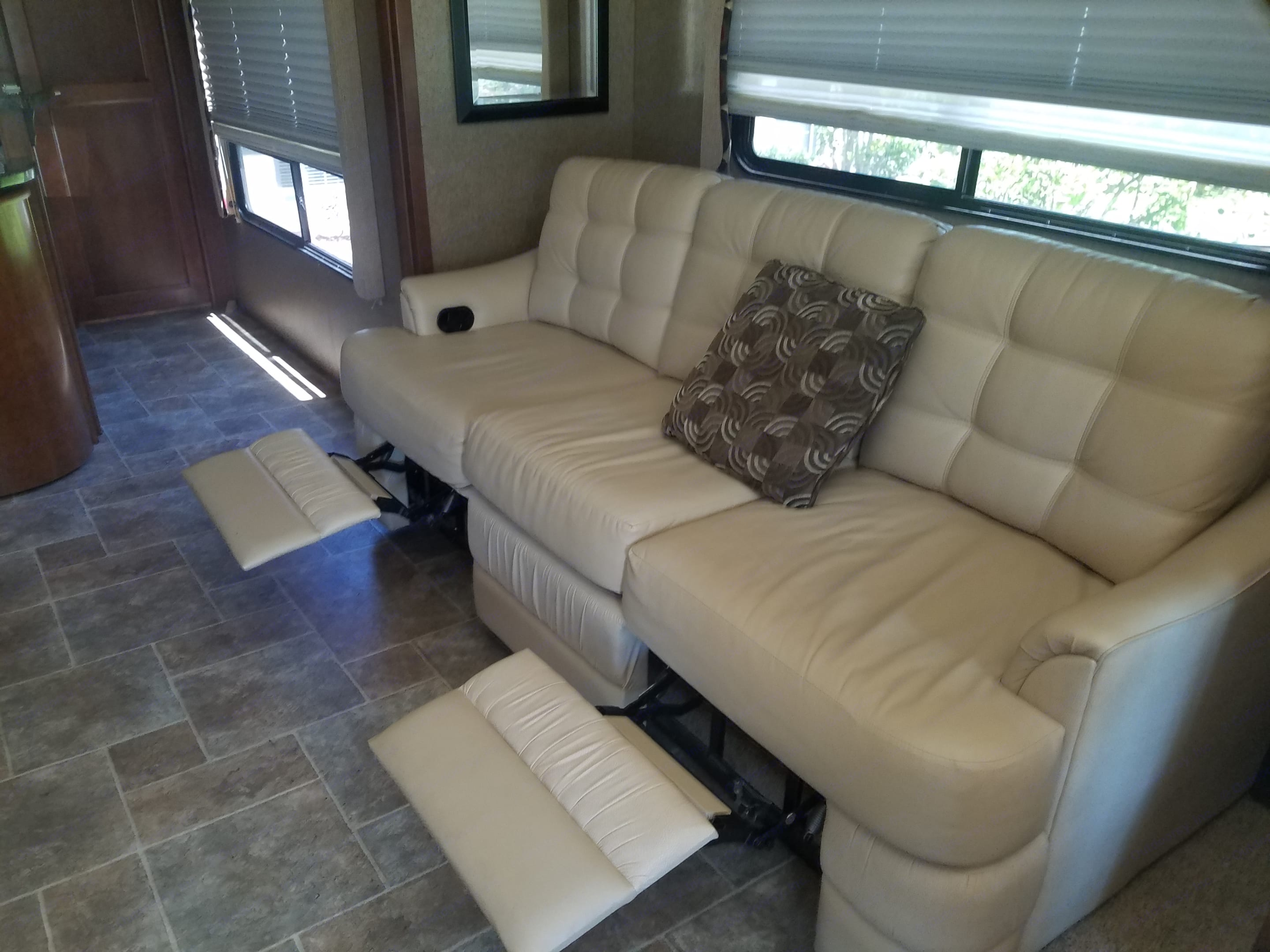New couch is also a  sleeper with deluxe air mattress. Thor Motor Coach Challenger 2014