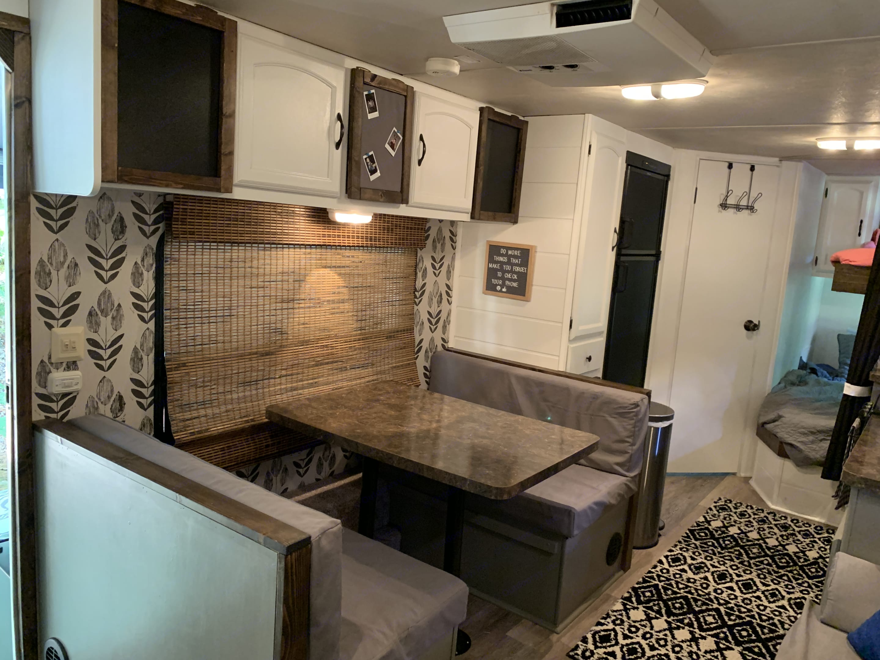 Dinette - converts to bed.  Storage space above for dishes, etc.. Forest River Salem Cruise Lite 2012