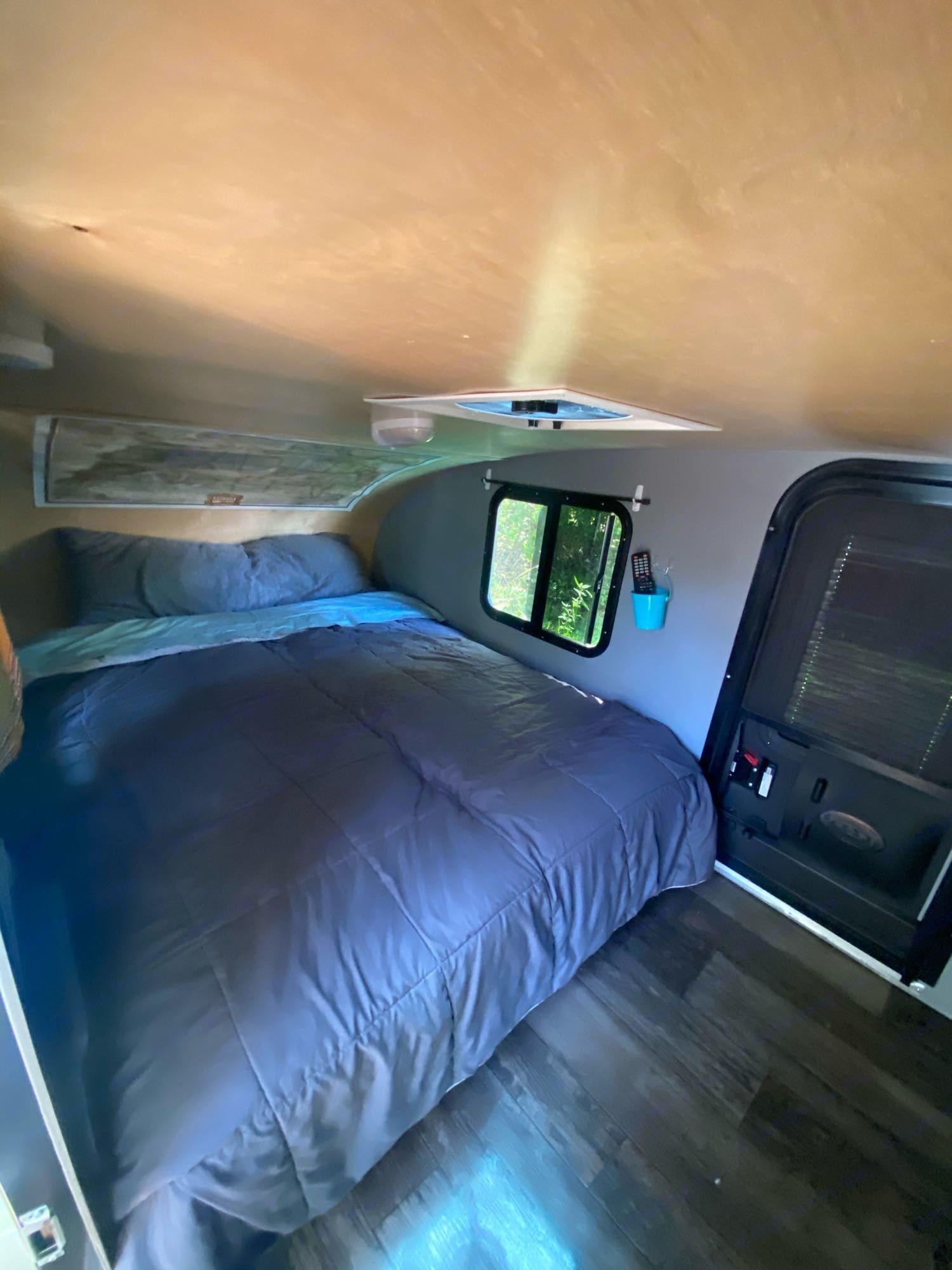 Bed. Custom Teardrop Camper 2019