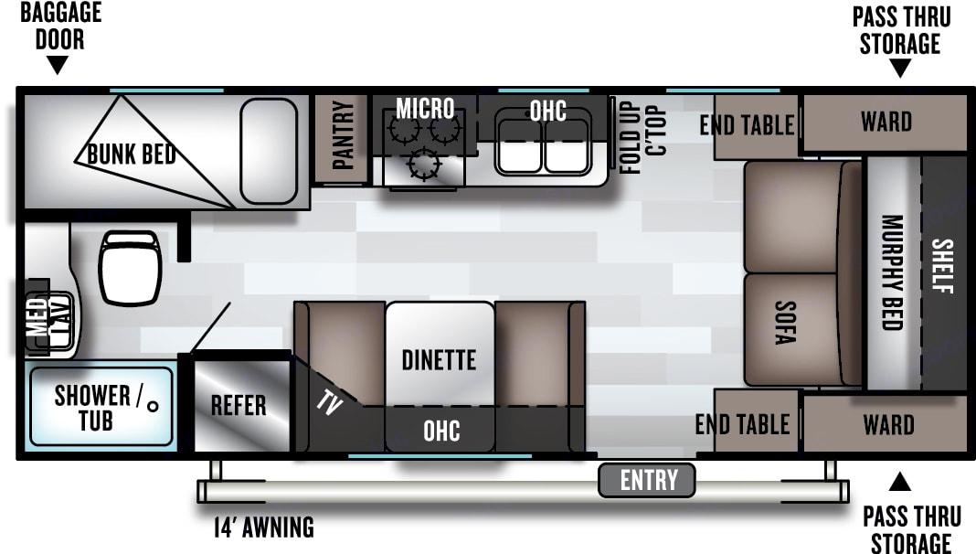 Floor Plan. Forest River Salem Cruise Lite 2019