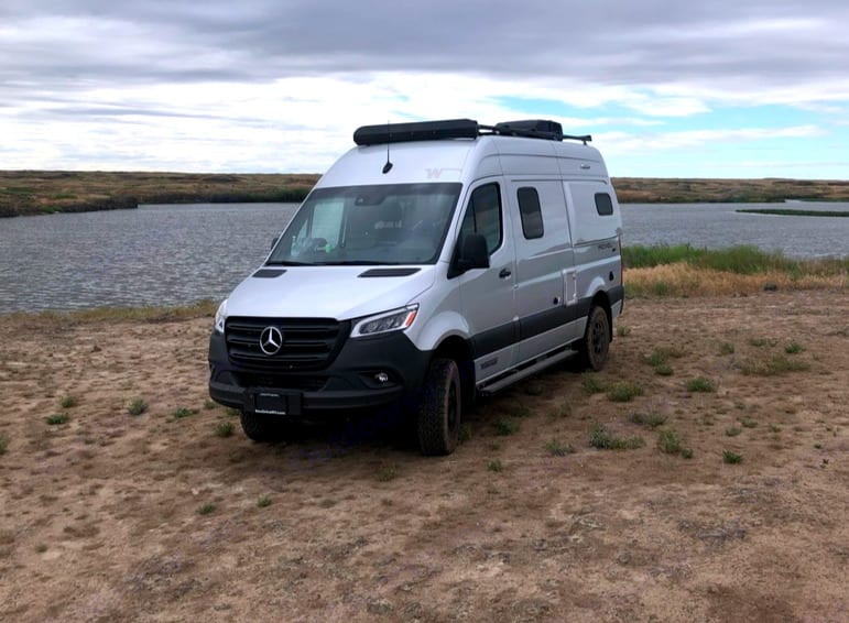 Duke's 4x4 drive train and beefy tires are meant to take you off the beaten path. Mercedes Revel 2020