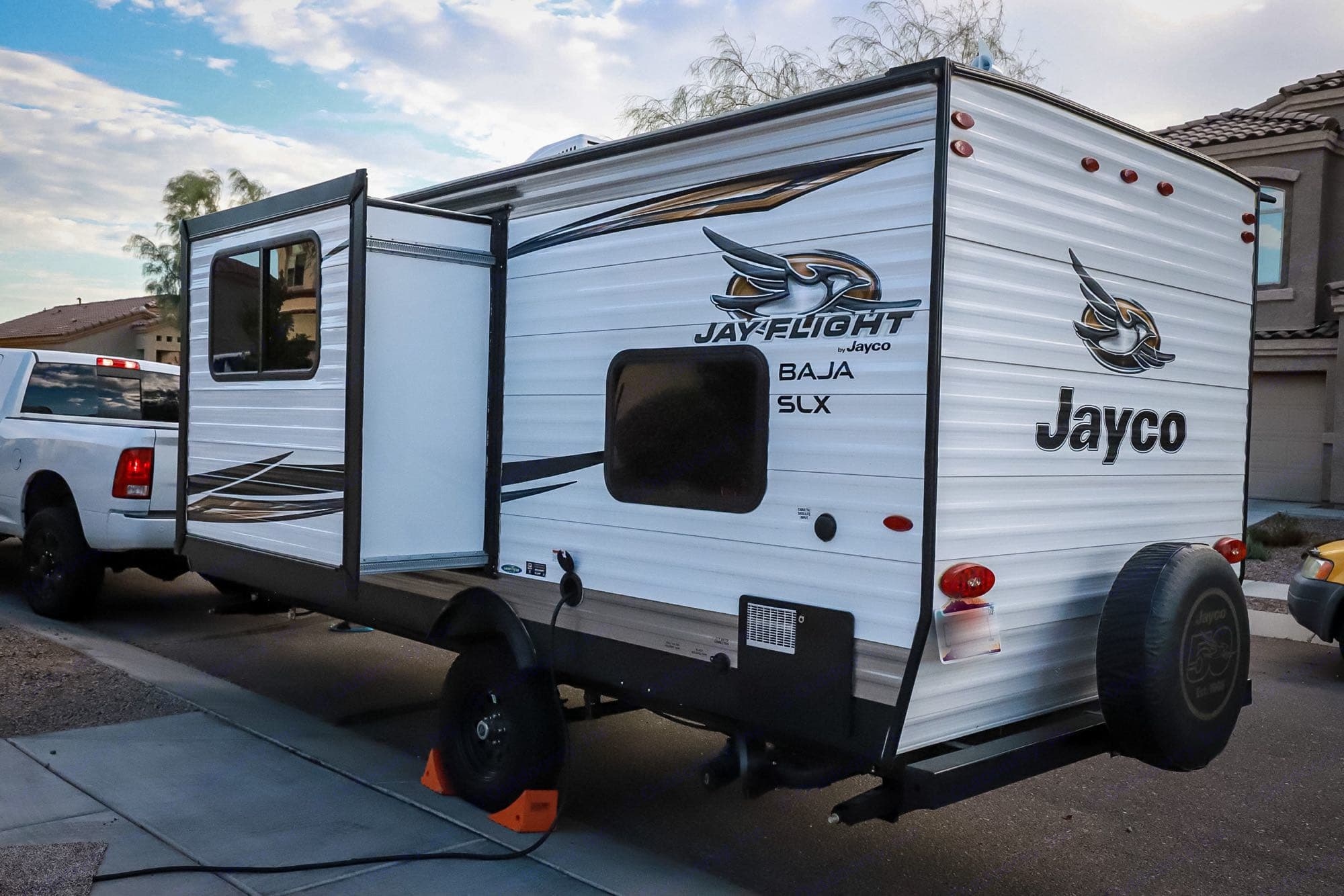 Slide out rear view.. Jayco Baja 2019