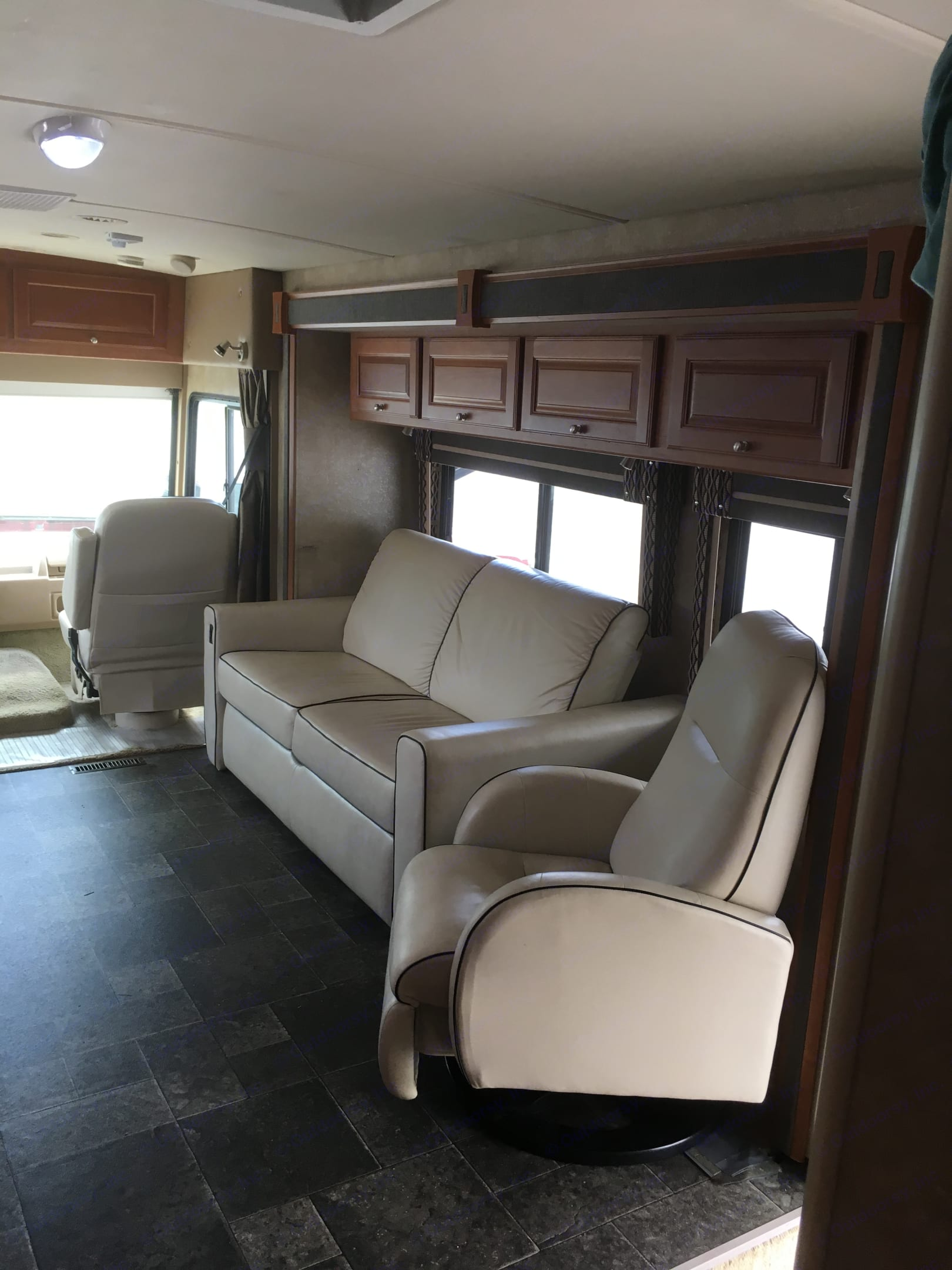Couch converts to a bed. Winnebago Itasca Sunova 2014