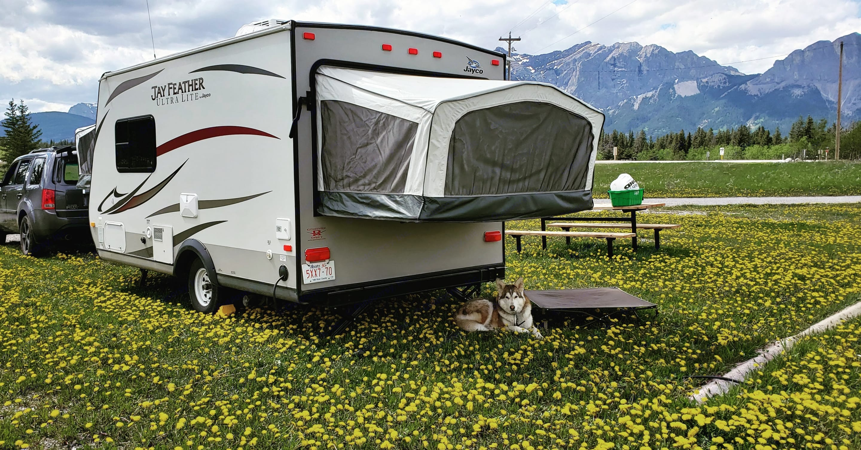 Back of the Trailer. Jayco Jay Feather ultra lite X17a 2013