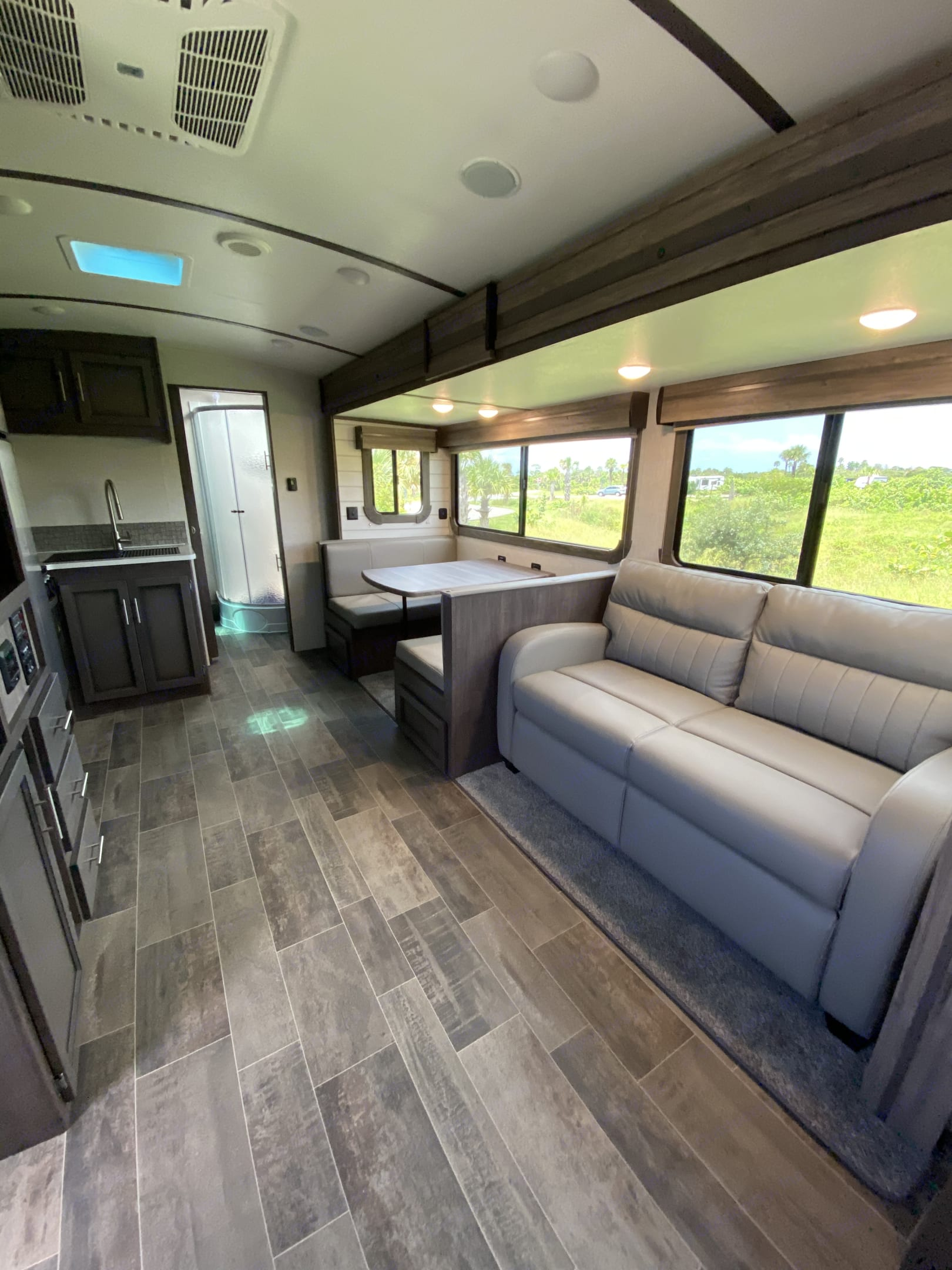 Dining and Sofa. Both convert into beds. Crossroads Sunset Trail Super Lite 2020