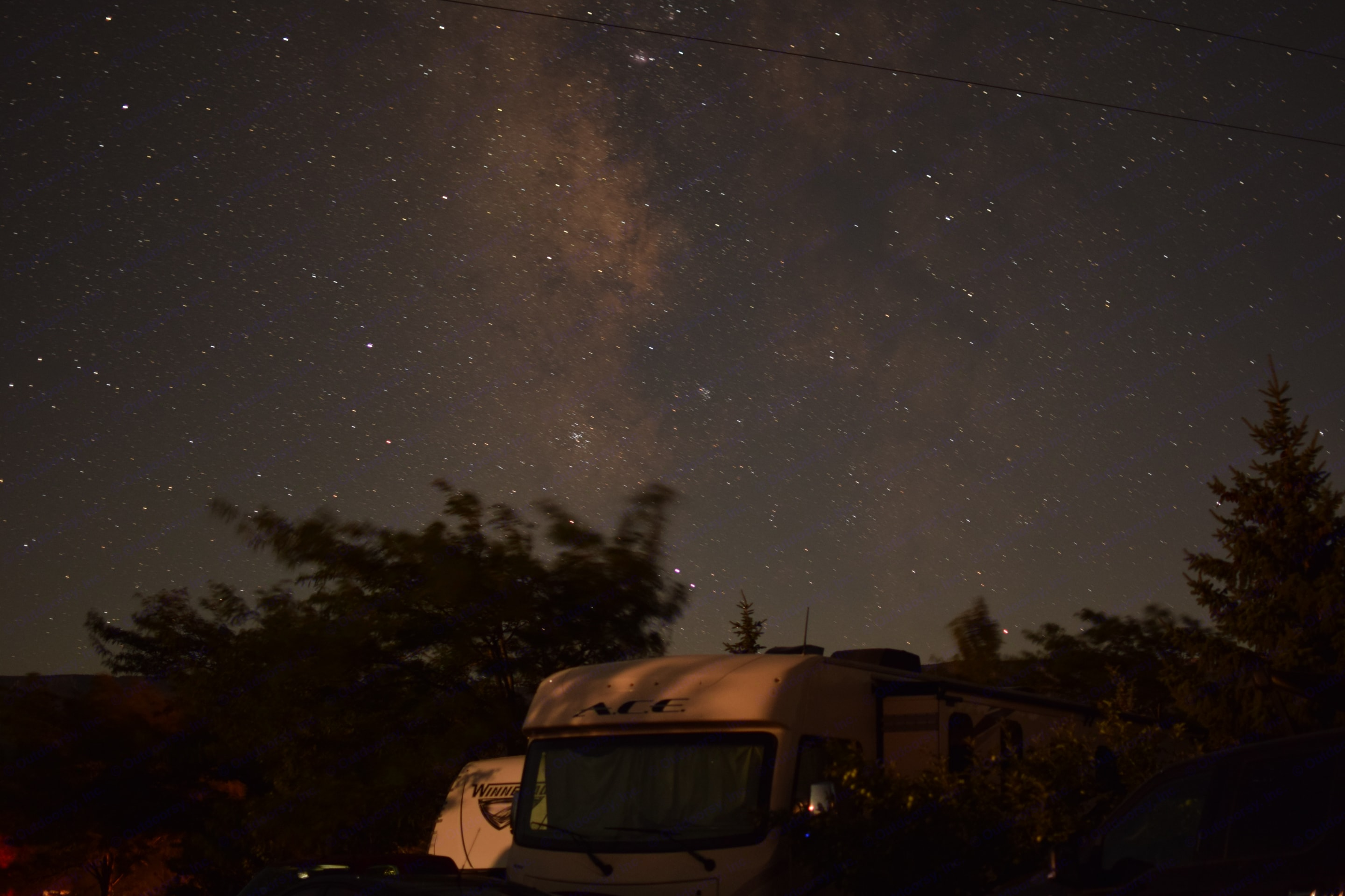 Notorious RVG in Utah with the Milky Way. Thor Motor Coach A.C.E 2018