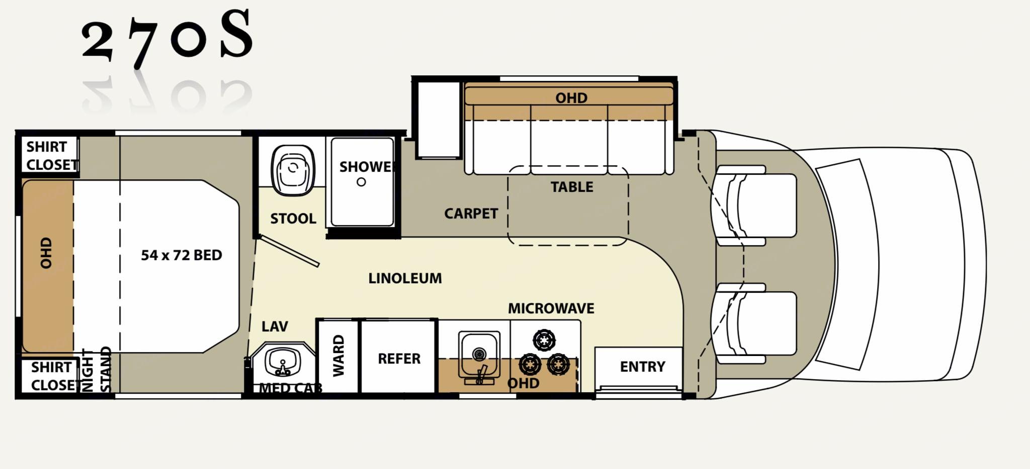 Similar layout except cooktop is 2 burner. Forest River Lexington 2004