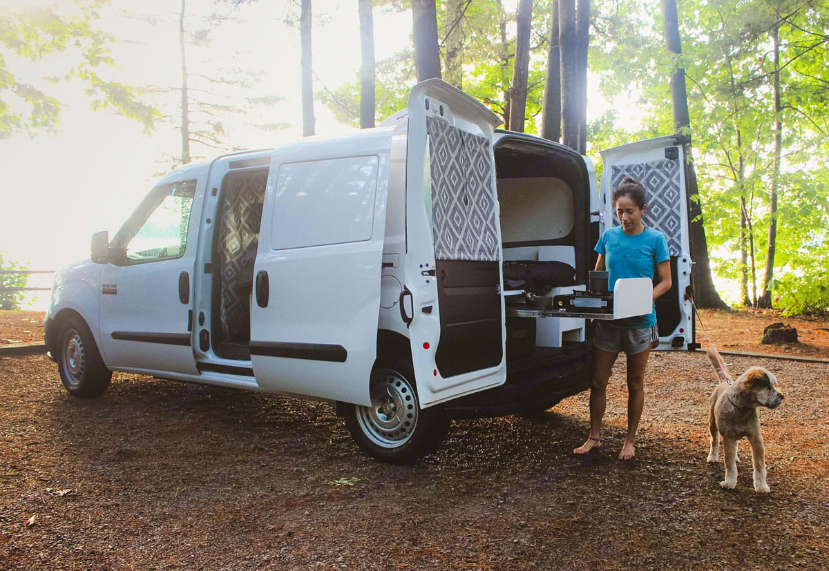 Table pulls out to set up your outdoor kitchen!. Dodge ProMaster City 2019