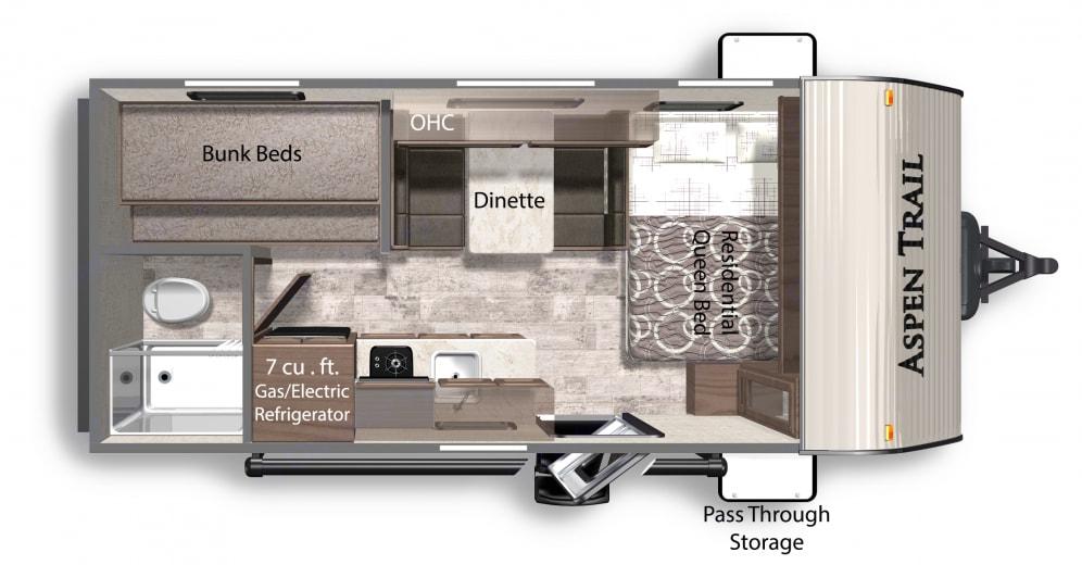 Floor Plan. Dutchmen Aspen Trail 2020