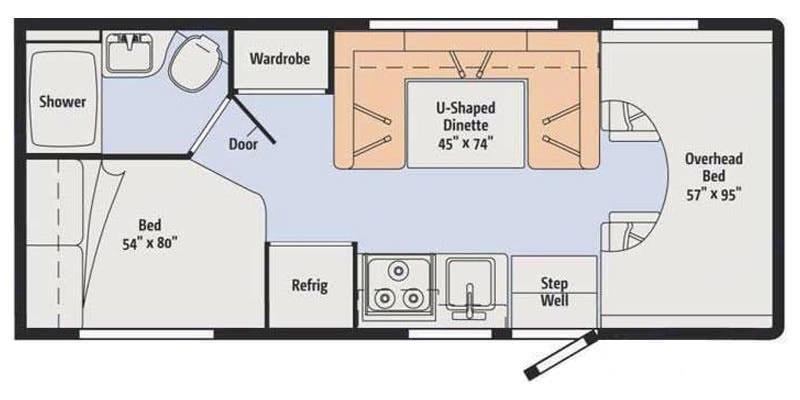 Winnie Cooper's floor plan. Winnebago Minnie Winnie 2016