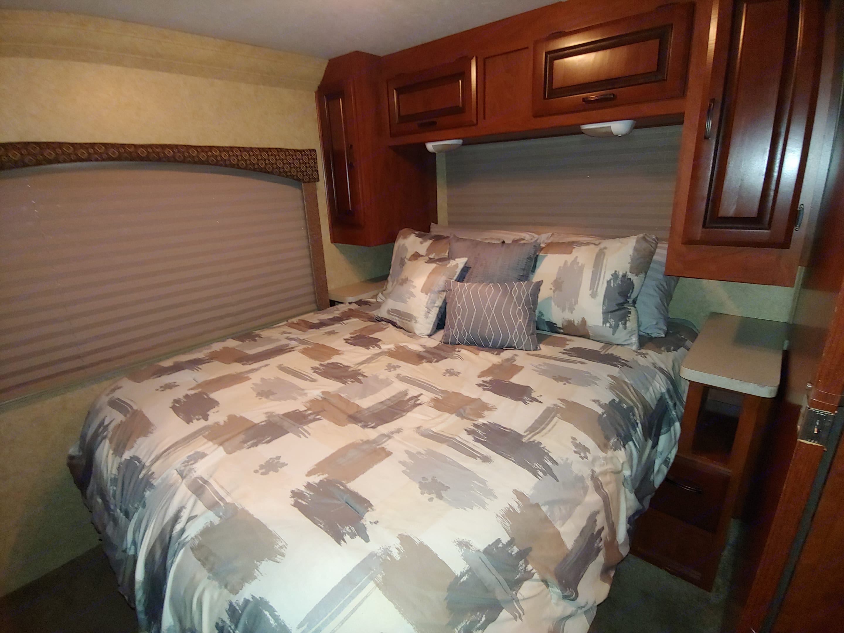 Master Bedroom - Lots of cupboard space. Forest River Sunseeker 2012