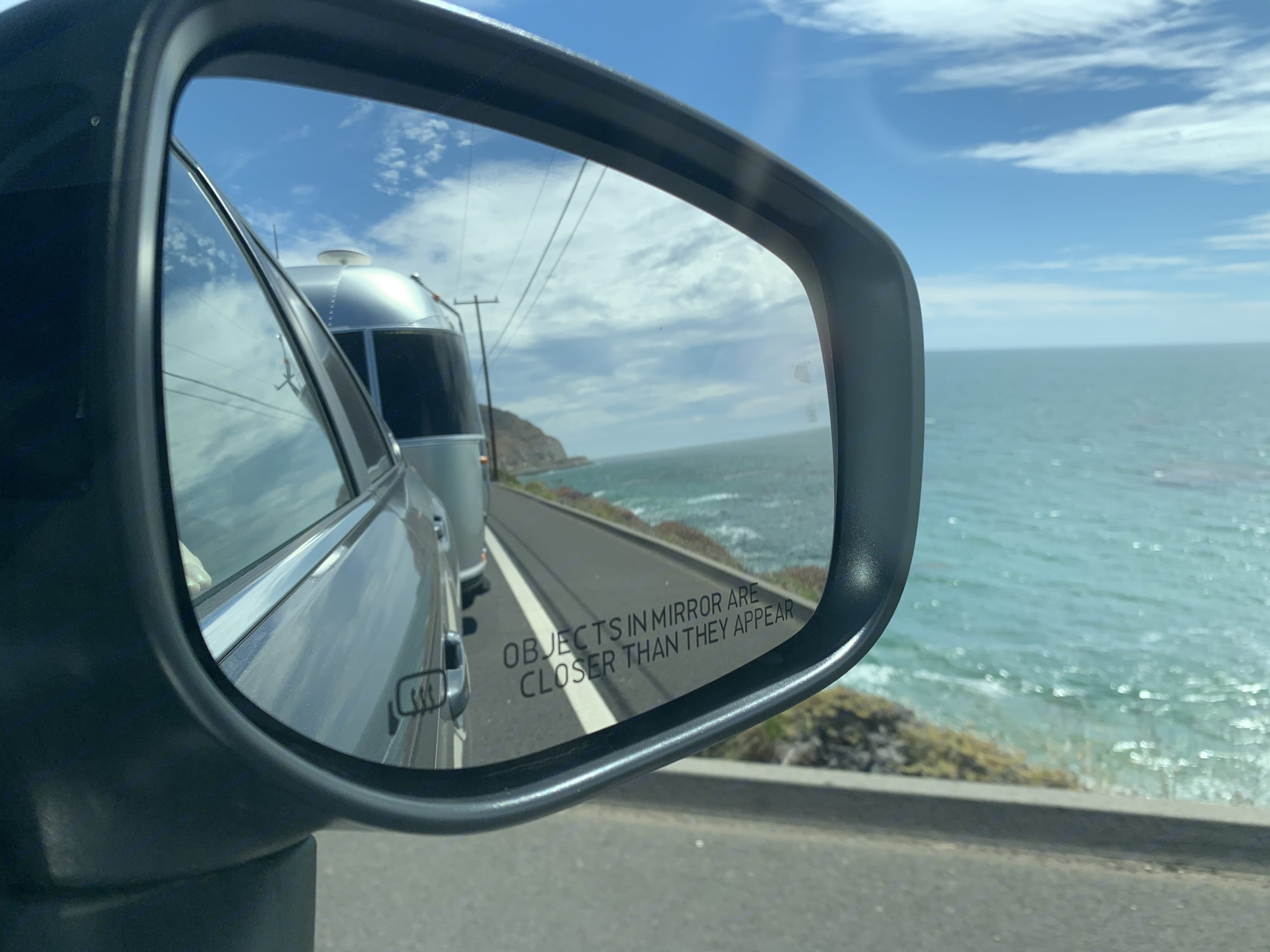The view on HWY 1. Airstream Bambi Sport 2018