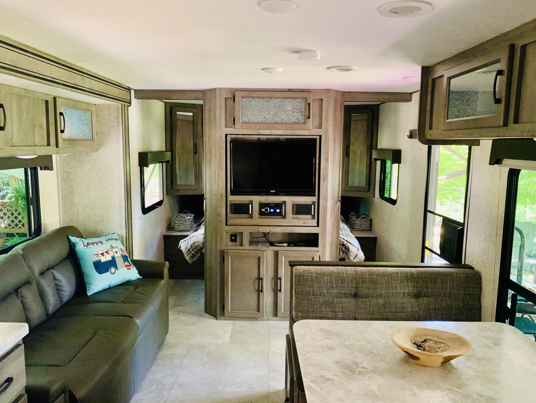Roomy, comfortable living space. Coachmen Apex 2021