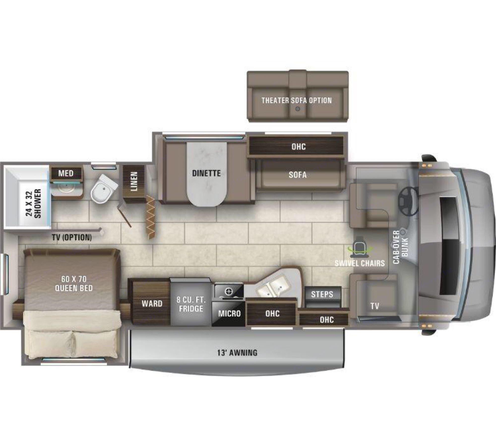Floorplan. Entegra Coach Odyssey 2021