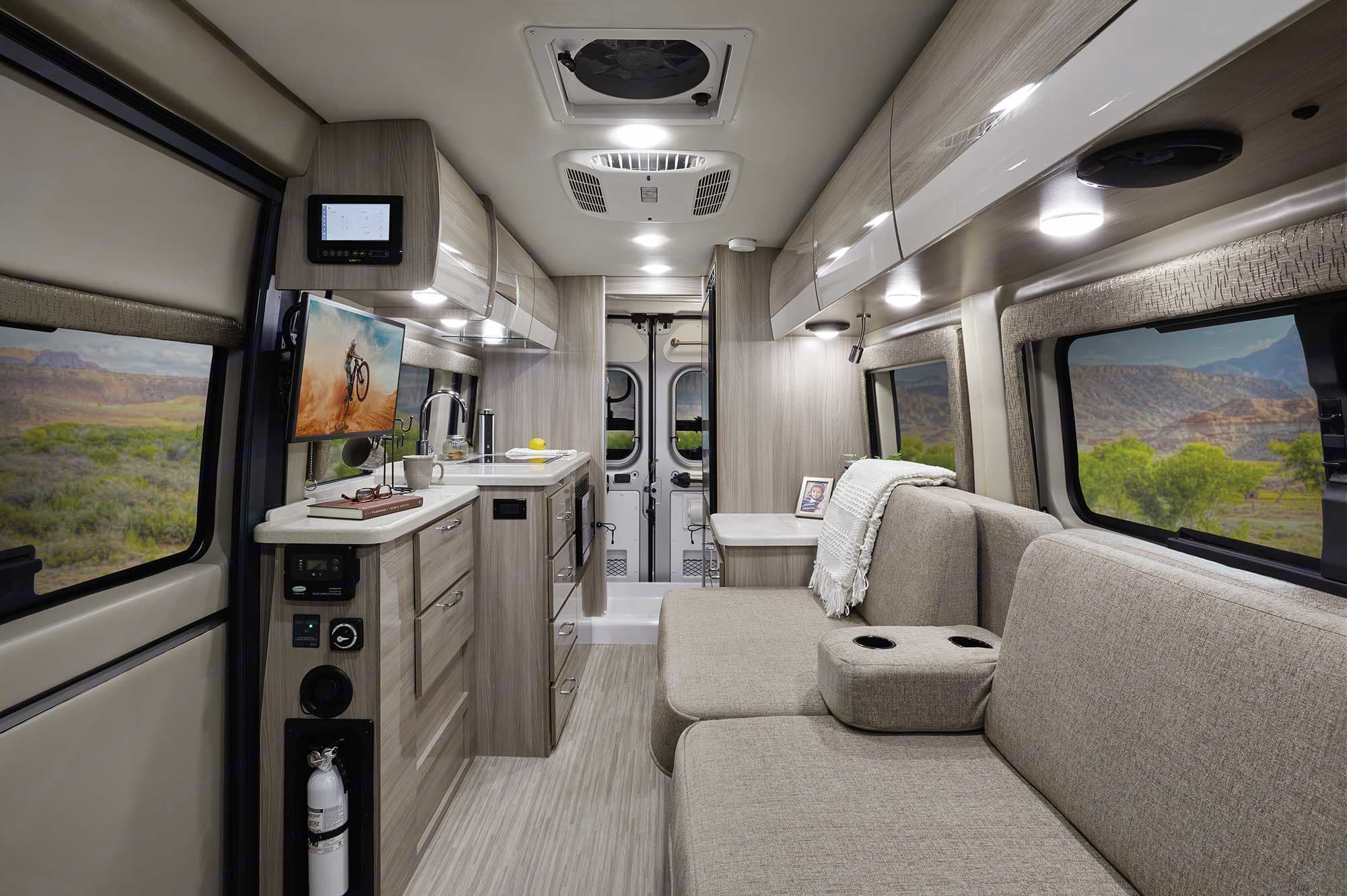 INTERIOR VIEW FROM DRIVER AND PASSENGER SEATS. Thor Motor Coach Other 2020