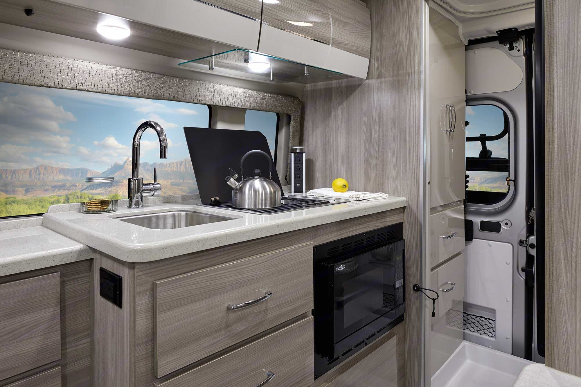 KITCHEN AREA, FRIDGE ACROSS FROM HERE. Thor Motor Coach Other 2020