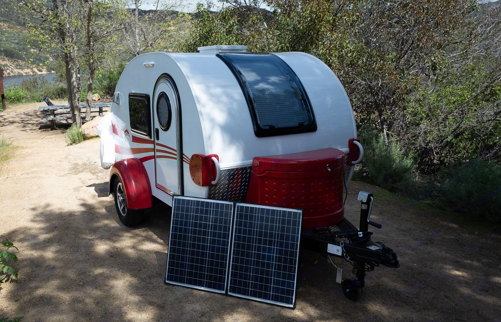 Stargazer Window, optional solar panels shown.. Little Guy 5wide Platform 2017