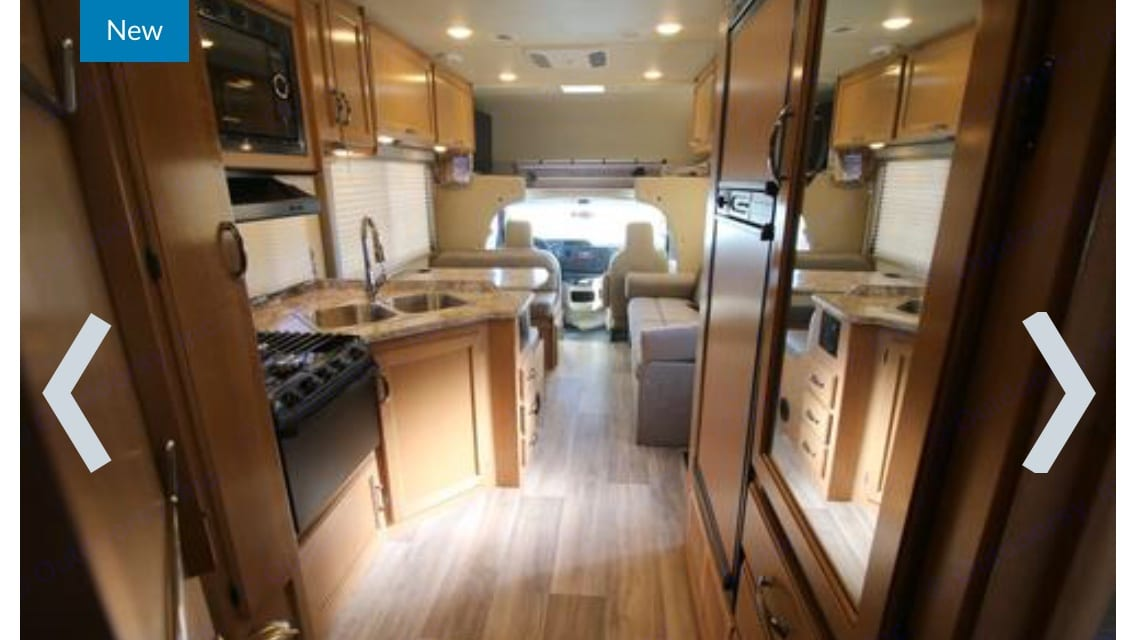 View from the bedroom. Thor Motor Coach Freedom Elite 2017