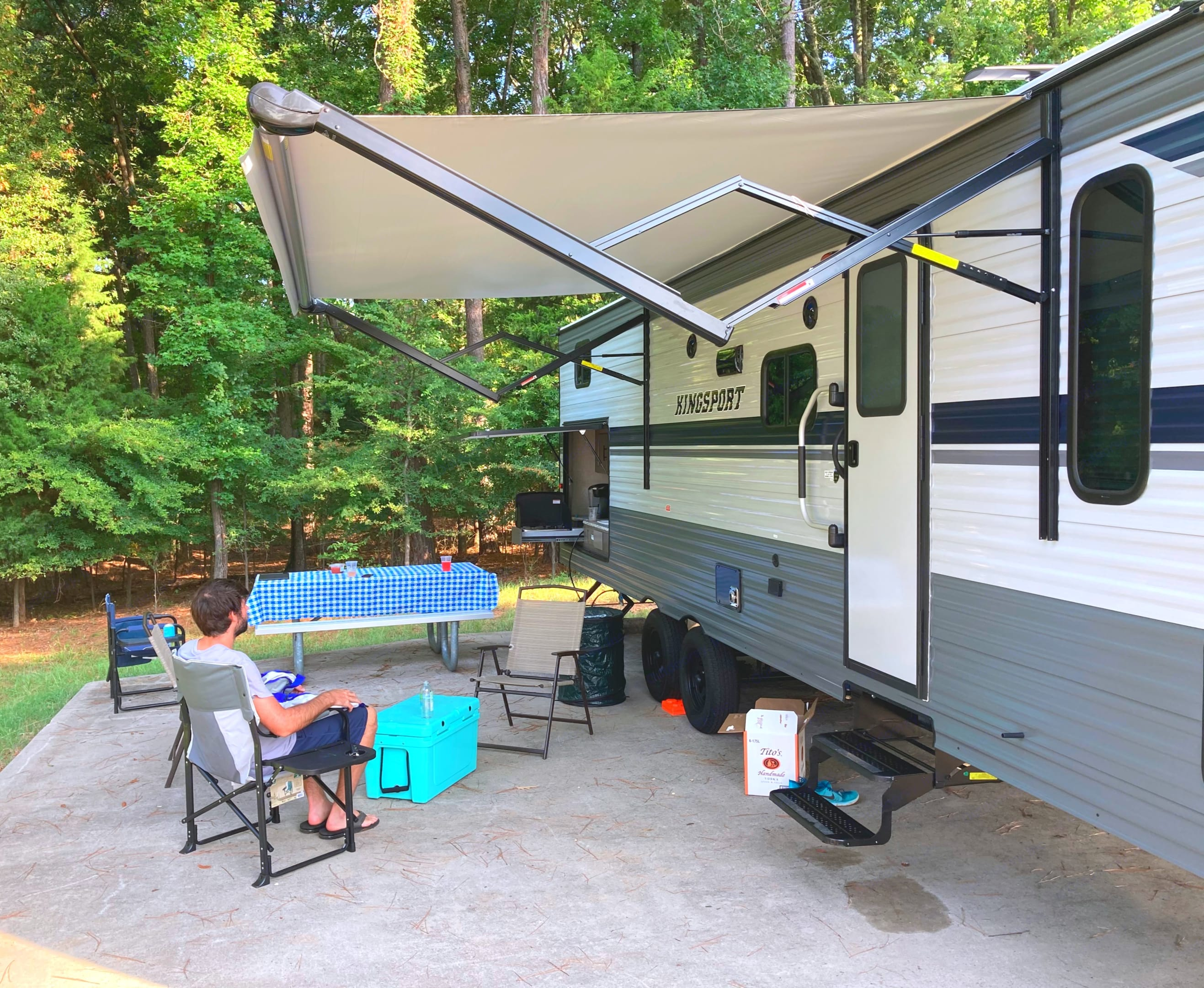 Enjoy some shade and music outside while your food is cooking!. Gulf Stream Kingsport 2021