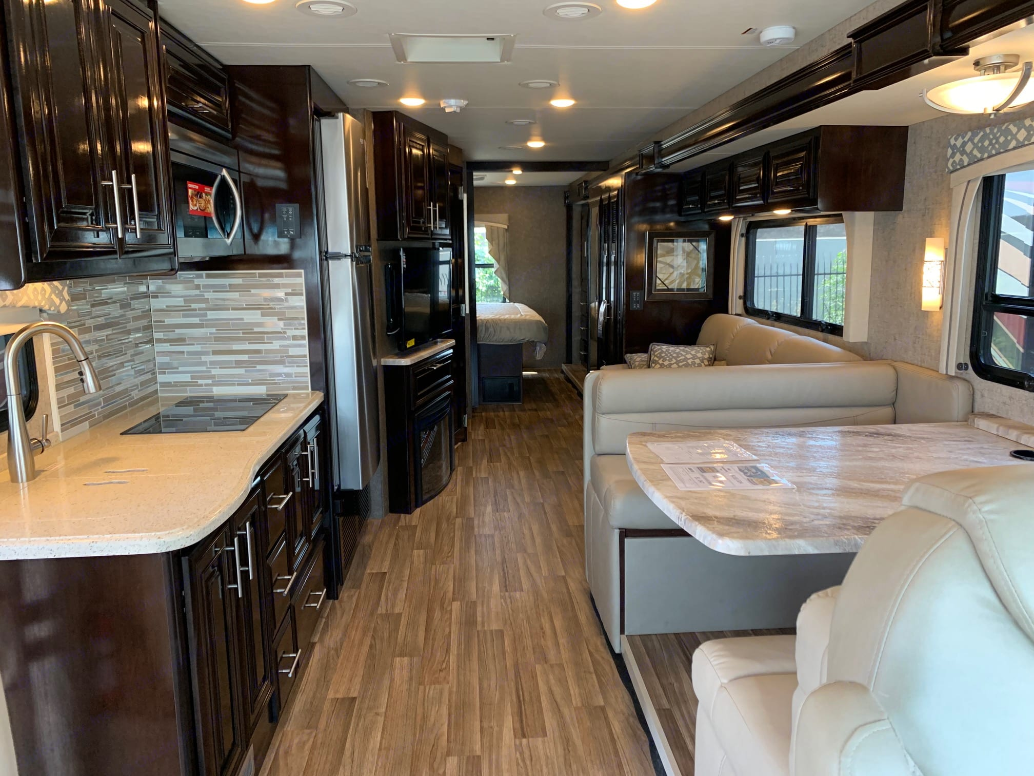From front looking back. Thor Motor Coach Miramar 2019