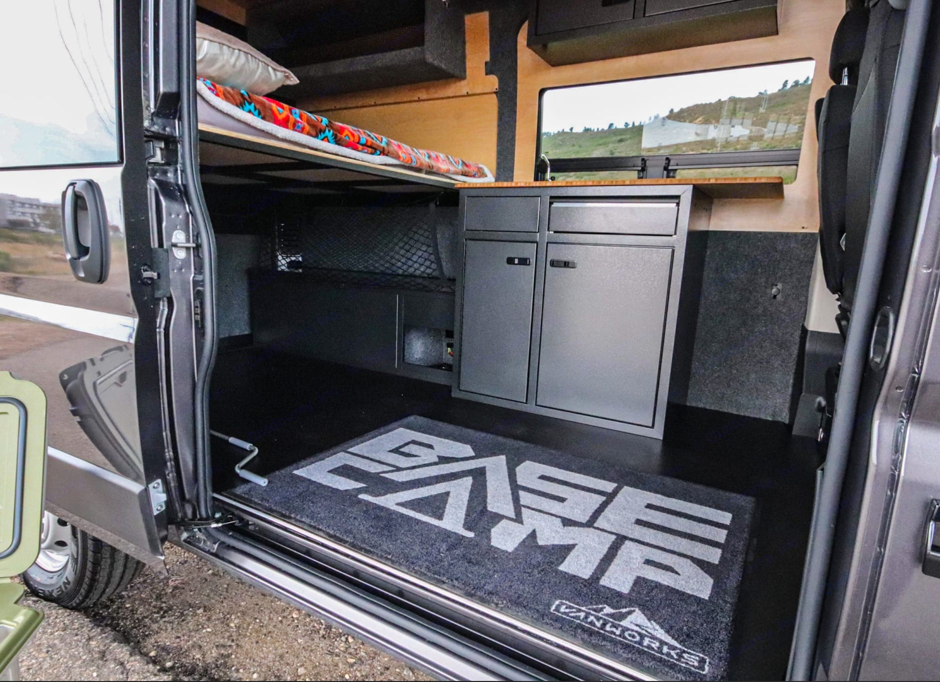 """We use the proven design of the Vanworks """"Bascamp"""" model for our rental units. . Dodge 1500 2020"""